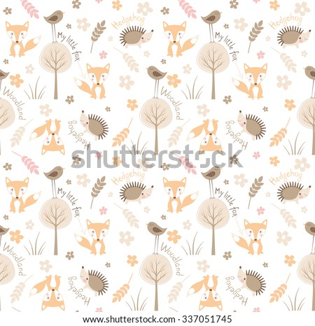 forest seamless pattern with