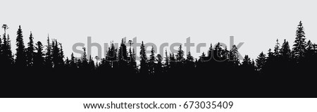 forest silhouette background