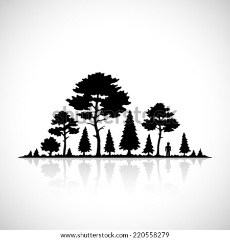 Forest silhouette icon.