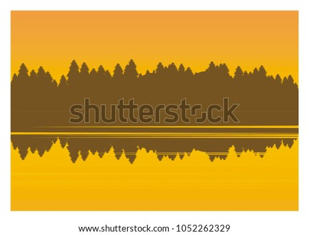 forest silhouette shadow on the