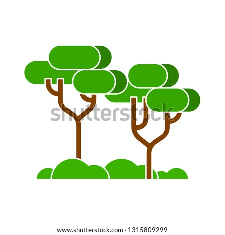 forest tree. forest tree with nature sign. nature and plant icon - nature tree illustration