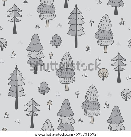 forest trees seamless vector