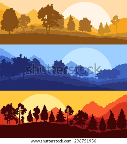 forest wood mountain background