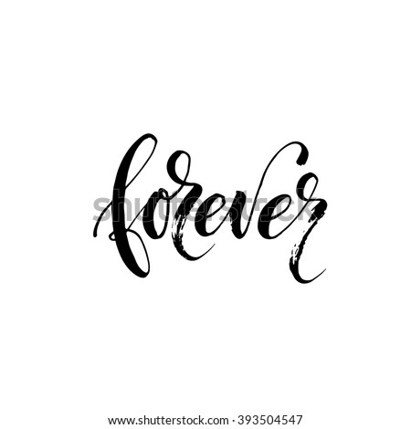 forever card hand drawn