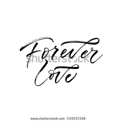 forever love postcard