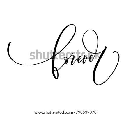 forever phrase lettering for