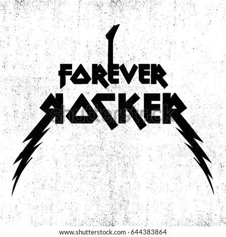 forever rocker with guitar rock