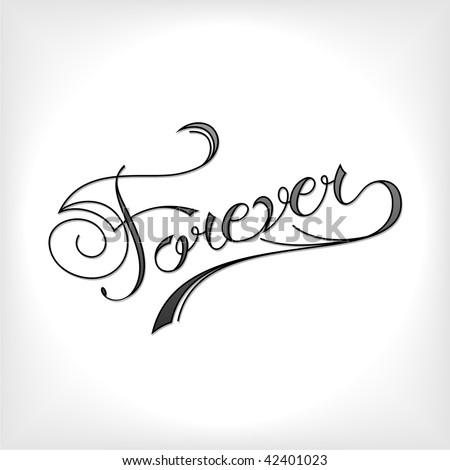 stock vector : Forever tattoo artistic font