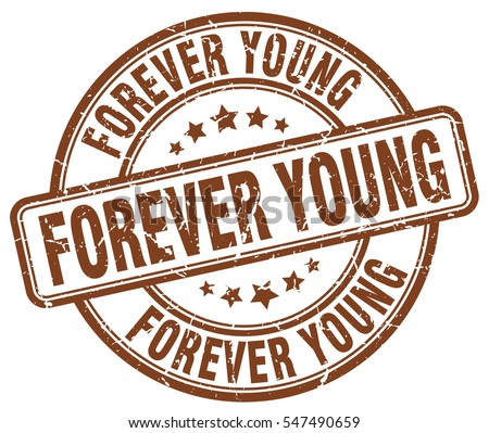 forever young stamp brown