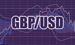 Forex candlestick pattern. Trading chart concept. Financial market chart. Currency pair. Acronym USD - United States Dollar. Acronym GBP - Great Britain Pound.