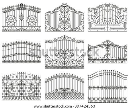 forged gates set  decorative