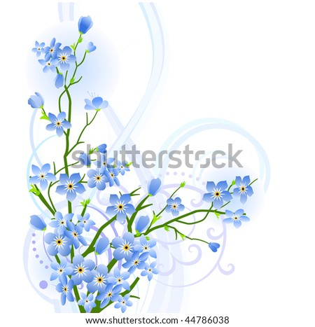 Forget-me-not design element