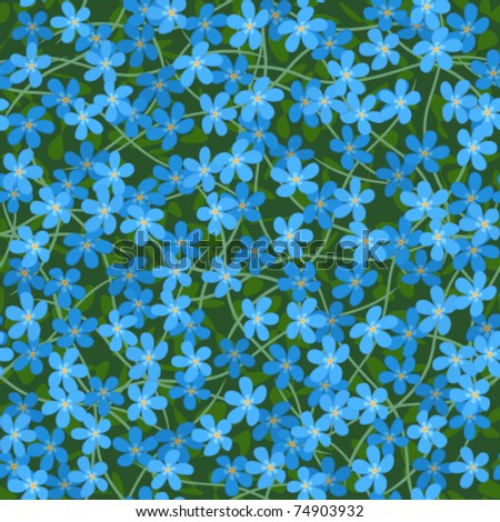 forget me not seamless flowers background