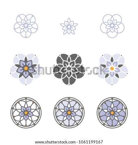 forget me not stylized flower