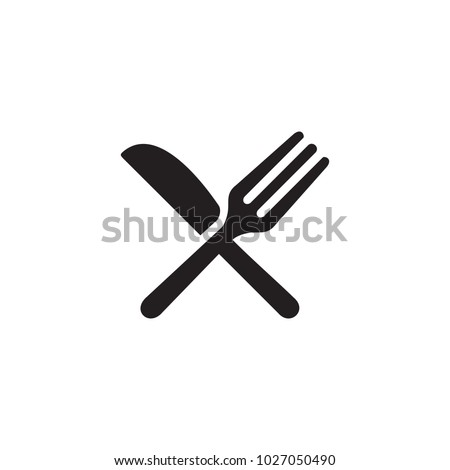 fork and knife  eat vector icon
