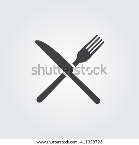 fork and knife icon  fork and