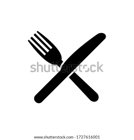 fork and knife icon  logo