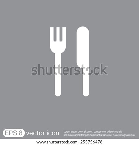 fork and knife sign. symbol lunch . cutlery