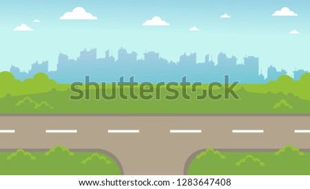 fork and path selection road