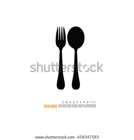 fork and spoon icon.spoon and fork.vector illustration.
