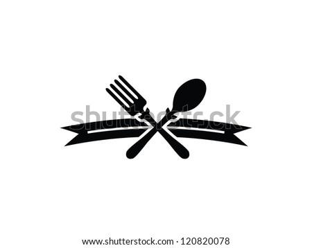 Fork and Spoon Menu Divider.
