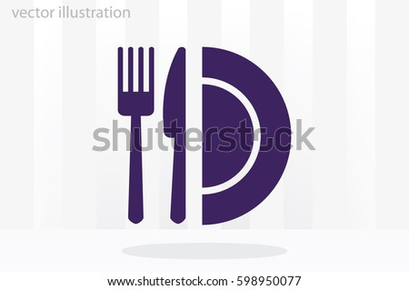 fork knife plate icon vector illustration eps10.