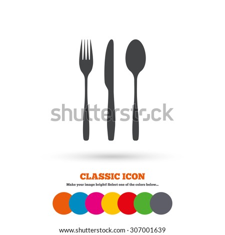 fork  knife  tablespoon sign