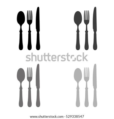 fork spoon knife    black...
