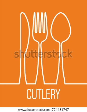 fork spoon knife cutlery symbol design