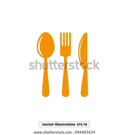 Fork Spoon Knife icon vector illustration eps10.