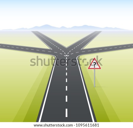 Forked Road. Concept of choice, dilemmas, opportunities