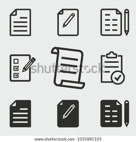 Form vector icons set. Black illustration isolated for graphic and web design.
