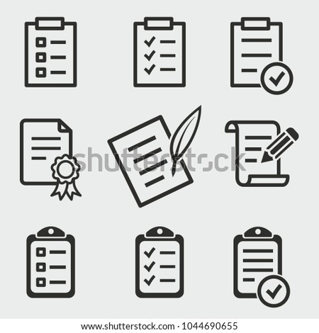 Form vector icons set. Black illustration isolated for graphic and web design. #1044690655