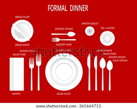Dish And Food Dinner Table Setting Vector Download Free Vector