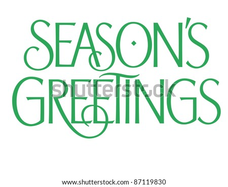 Formal Holiday Vector Lettering Series: Season\'s Greetings