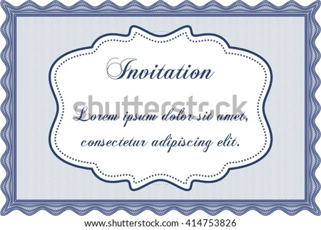 Formal invitation. Customizable, Easy to edit and change colors. With background. Good design.