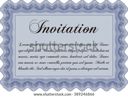 Formal invitation. Customizable, Easy to edit and change colors. With complex background. Excellent design.