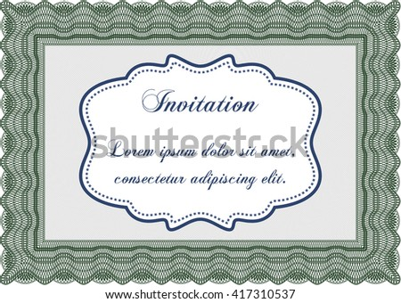 Formal invitation. Good design. With background. Customizable, Easy to edit and change colors.