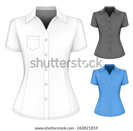 formal short sleeved blouses