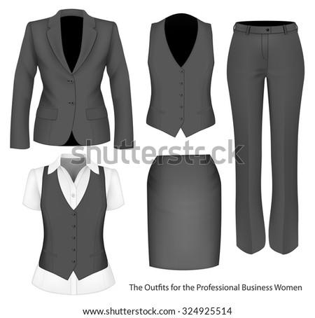 formal wear for business women