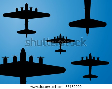 formation of american bombers