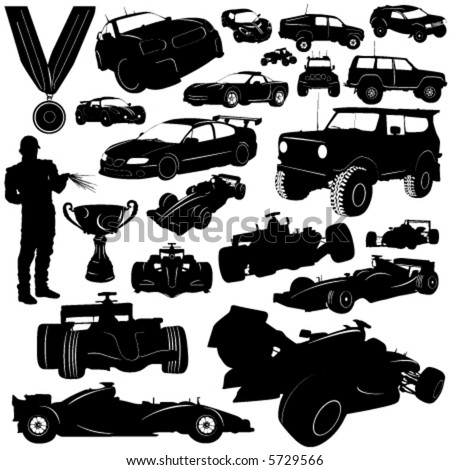 formula and automobile sports vector