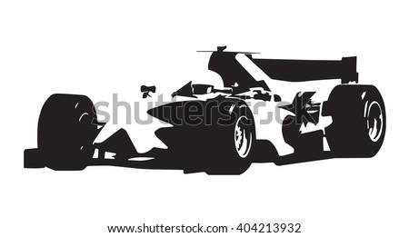 formula car  vector isolated
