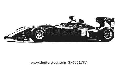 formula car vector silhouette
