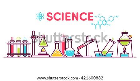 formula, flask, experiment, retort, test tube, chemistry