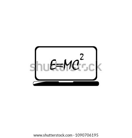 formula on the laptop screen