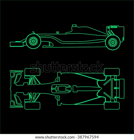 formula one  linear light