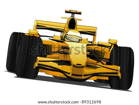 Formula  Auto Racing on Formula One Racing Car Stock Vector 89312698   Shutterstock