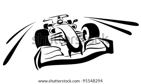 formula one sketch in black