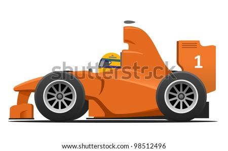 Formula 1 Race Car Cartoon  Race Car Cartoon Top View